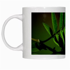 Leaf White Coffee Mug by Siebenhuehner