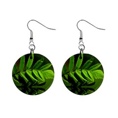Leaf Mini Button Earrings by Siebenhuehner