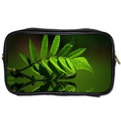 Leaf Travel Toiletry Bag (two Sides) by Siebenhuehner