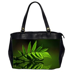 Leaf Oversize Office Handbag (two Sides) by Siebenhuehner