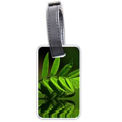 Leaf Luggage Tag (one Side) by Siebenhuehner