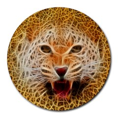 Jaguar Electricfied 8  Mouse Pad (round) by masquerades