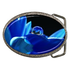 Waterdrop Belt Buckle (oval) by Siebenhuehner
