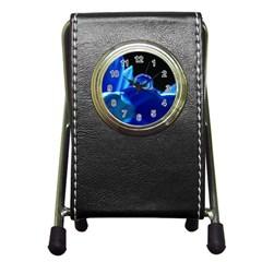 Waterdrop Stationery Holder Clock by Siebenhuehner
