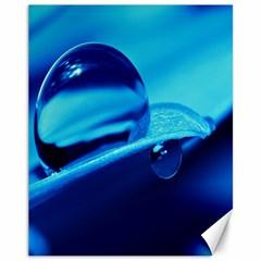 Waterdrops Canvas 11  X 14  (unframed) by Siebenhuehner