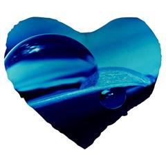 Waterdrops 19  Premium Heart Shape Cushion by Siebenhuehner