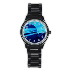 Waterdrops Sport Metal Watch (black)