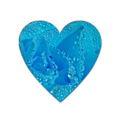 Blue Rose Magnet (heart) by Siebenhuehner