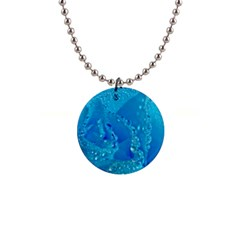 Blue Rose Button Necklace by Siebenhuehner