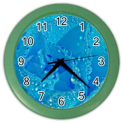 Blue Rose Wall Clock (color) by Siebenhuehner