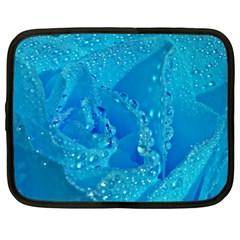 Blue Rose Netbook Case (xxl) by Siebenhuehner