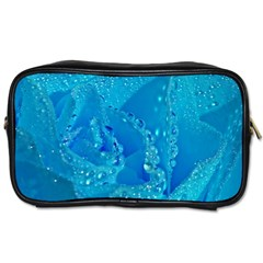 Blue Rose Travel Toiletry Bag (two Sides) by Siebenhuehner