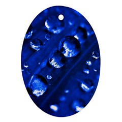 Waterdrops Oval Ornament (two Sides) by Siebenhuehner