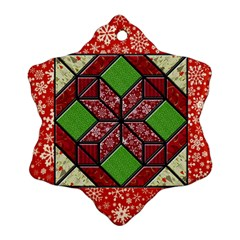 Grandma s Quilt Snowflake Ornament by Contest1673713