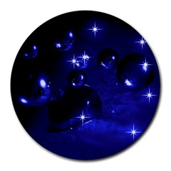 Blue Dreams 8  Mouse Pad (round) by Siebenhuehner