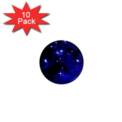Blue Dreams 1  Mini Button Magnet (10 Pack)