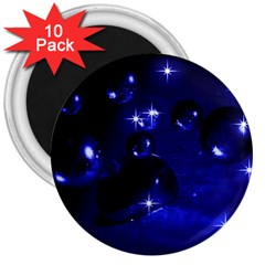 Blue Dreams 3  Button Magnet (10 Pack) by Siebenhuehner