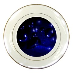 Blue Dreams Porcelain Display Plate by Siebenhuehner