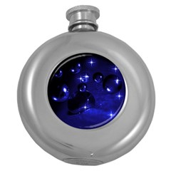 Blue Dreams Hip Flask (round)
