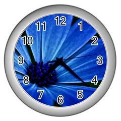 Flower Wall Clock (silver) by Siebenhuehner