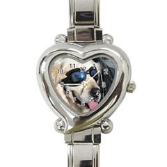 Cool Dog  Heart Italian Charm Watch  by Siebenhuehner