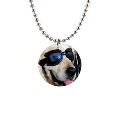 Cool Dog  Button Necklace by Siebenhuehner