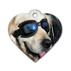 Cool Dog  Dog Tag Heart (two Sided) by Siebenhuehner