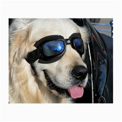 Cool Dog  Glasses Cloth (small, Two Sided) by Siebenhuehner