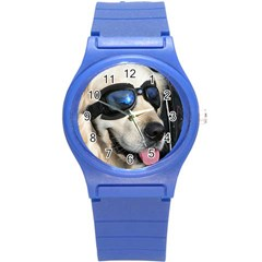 Cool Dog  Plastic Sport Watch (small) by Siebenhuehner