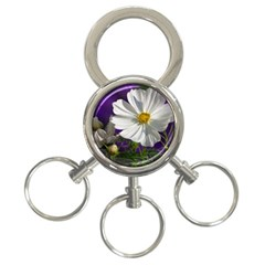 Cosmea   3 Ring Key Chain by Siebenhuehner