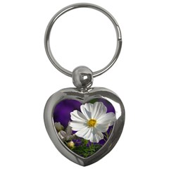 Cosmea   Key Chain (heart) by Siebenhuehner