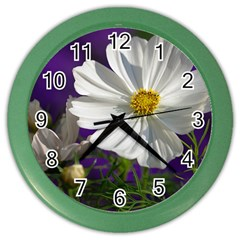Cosmea   Wall Clock (color) by Siebenhuehner
