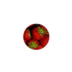 Strawberry  1  Mini Button Magnet by Siebenhuehner