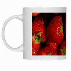 Strawberry  White Coffee Mug by Siebenhuehner