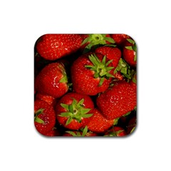 Strawberry  Drink Coasters 4 Pack (square) by Siebenhuehner