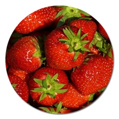 Strawberry  Magnet 5  (round) by Siebenhuehner