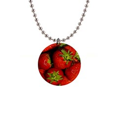 Strawberry  Button Necklace