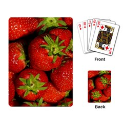 Strawberry  Playing Cards Single Design by Siebenhuehner