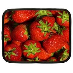 Strawberry  Netbook Case (xxl) by Siebenhuehner