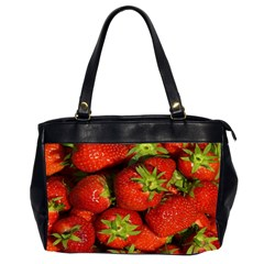 Strawberry  Oversize Office Handbag (two Sides) by Siebenhuehner