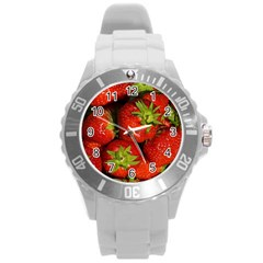Strawberry  Plastic Sport Watch (large) by Siebenhuehner
