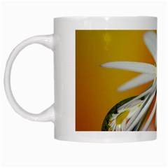 Daisy With Drops White Coffee Mug by Siebenhuehner