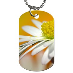 Daisy With Drops Dog Tag (one Sided) by Siebenhuehner