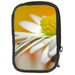 Daisy With Drops Compact Camera Leather Case by Siebenhuehner