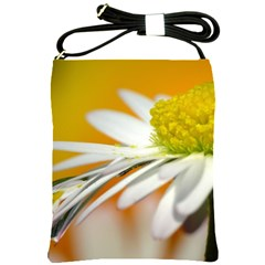 Daisy With Drops Shoulder Sling Bag by Siebenhuehner