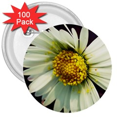 Daisy 3  Button (100 Pack) by Siebenhuehner