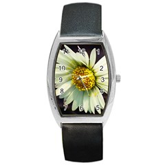 Daisy Tonneau Leather Watch by Siebenhuehner
