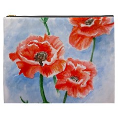 Poppies Cosmetic Bag (XXXL) by ArtByThree