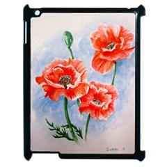 Poppies Apple Ipad 2 Case (black) by ArtByThree