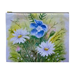 Meadow Flowers Cosmetic Bag (xl) by ArtByThree